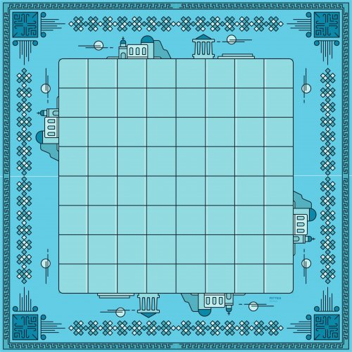 Print and play board for Petteia