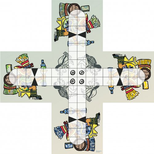 Print and play board for Patolli